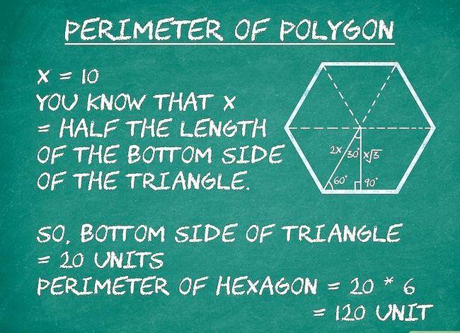 Prent getiteld Bereken die oppervlakte van `n veelhoek Stap 3