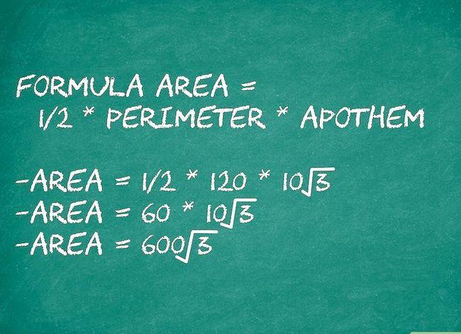 Prent getiteld Bereken die oppervlakte van `n veelhoek Stap 4