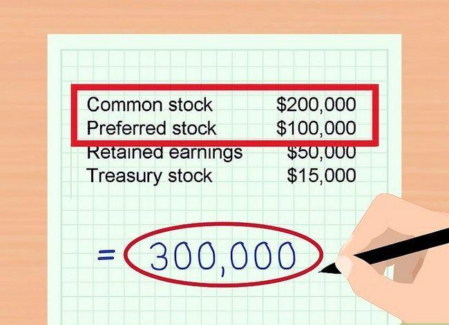 Prent getiteld Bereken Aandeelhouers` Equity Step 6