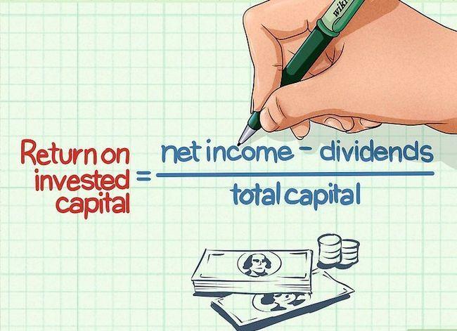 Prent getiteld Bereken die opbrengs op kapitaal Stap 1