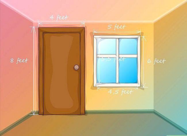 Prent getiteld Bereken hoeveelheid verf om `n kamer te verf Stap 7