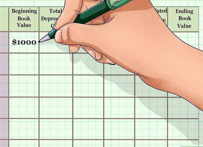Prent getiteld Bereken waardevermindering op vaste bates Stap 11