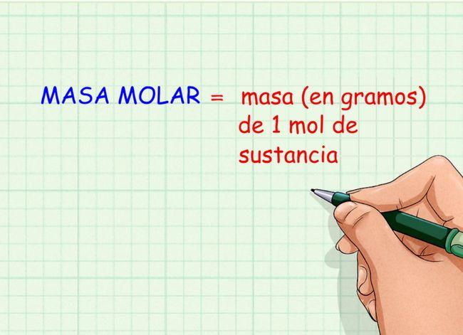 Prent getiteld Calculate_Molar_Mass_Step_1