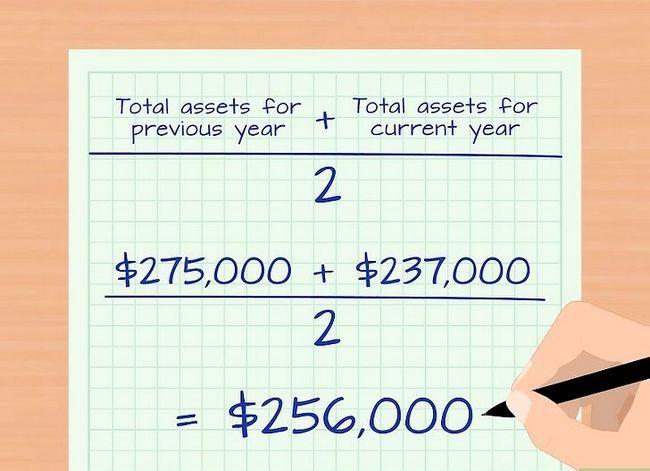 Prent getiteld Bereken die Total Asset Turnover Step 3
