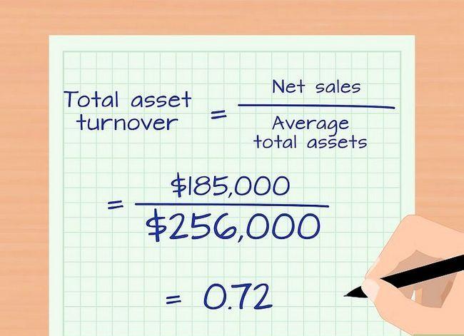 Prent getiteld Bereken die Total Asset Turnover Step 4