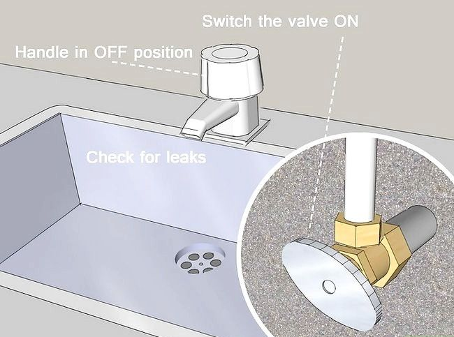 Beeld getiteld Verandering Wassers in die kombuis kraan Stap 10