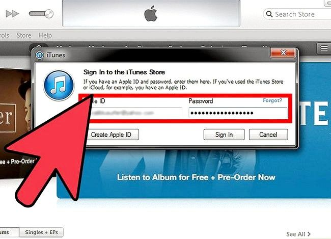 Beeld getiteld Verander iTunes Store Land Streek Stap 2