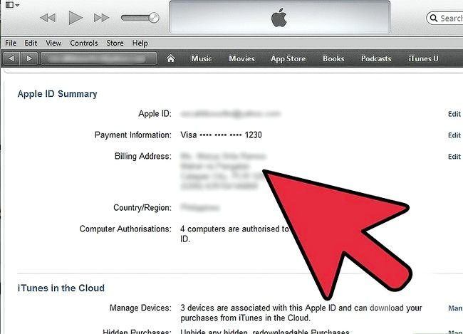Beeld getiteld Verander iTunes Store Land Streek Stap 4