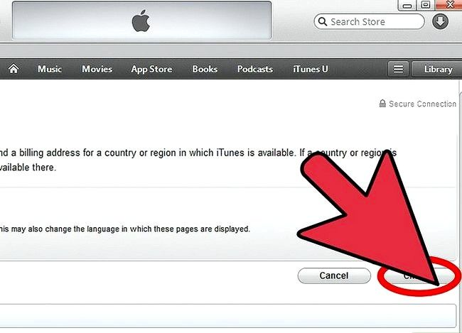 Beeld getiteld Verander iTunes Store Land Streek Stap 6