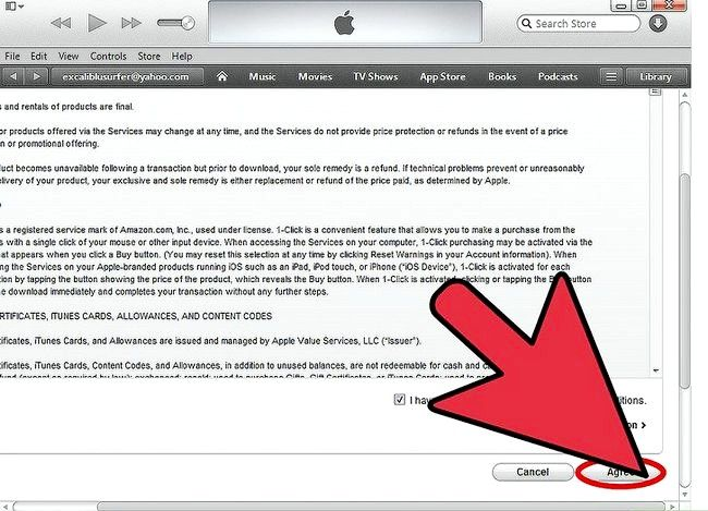 Beeld getiteld Verander iTunes Store Land Streek Stap 7