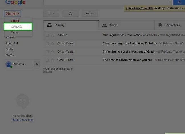 Prent getiteld Skakel van Yahoo! Mail na Gmail Stap 13