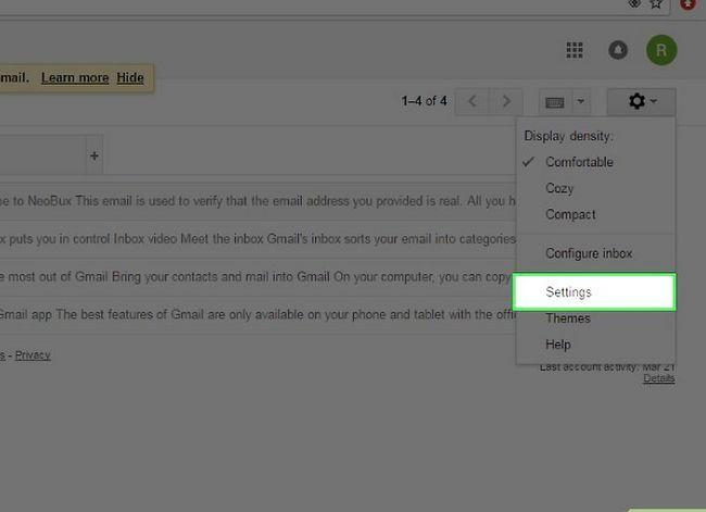 Prent getiteld Skakel van Yahoo! Mail na Gmail Stap 2