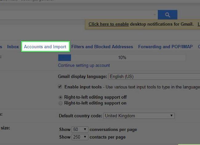 Prent getiteld Skakel van Yahoo! Mail na Gmail Stap 3