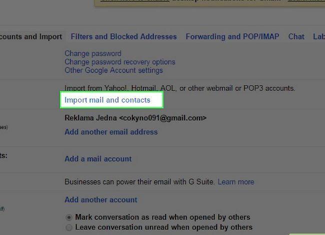 Prent getiteld Skakel van Yahoo! Mail na Gmail Stap 4