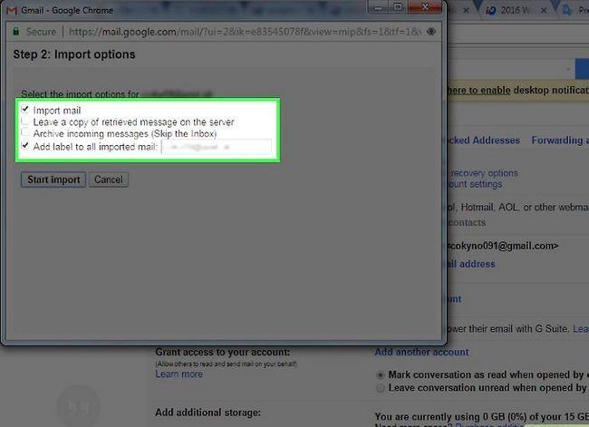 Prent getiteld Skakel van Yahoo! Mail na Gmail Stap 5
