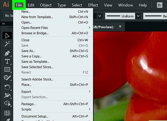 Prent getiteld Verander die agtergrondkleur in Adobe Illustrator Stap 2