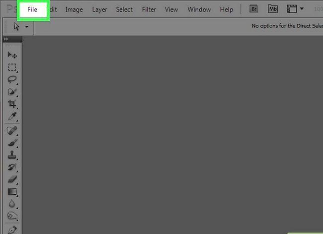 Prent getiteld Verander die agtergrondkleur in Photoshop Stap 2