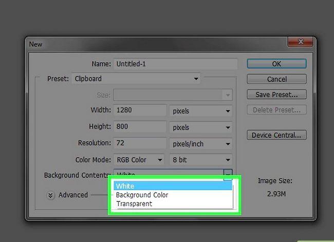 Prent getiteld Verander die agtergrondkleur in Photoshop Stap 5