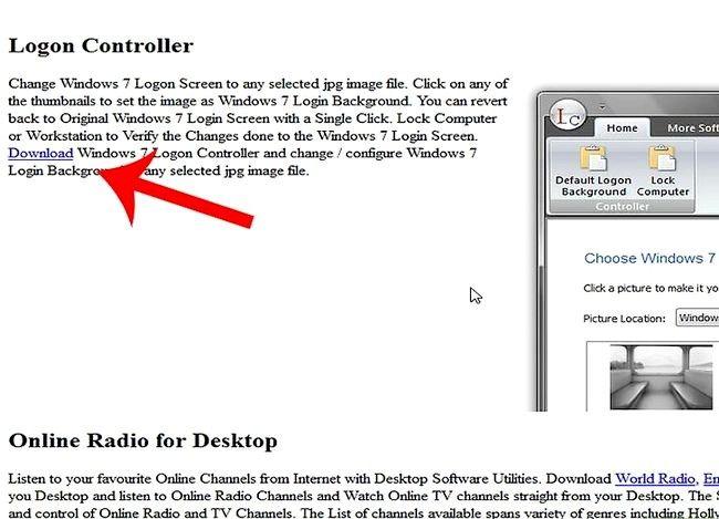 Beeld getiteld Verander Windows 7 Teken agtergrond Stap 1