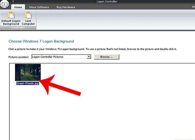 Prent getiteld Verander Windows 7 Teken agtergrond Stap 3