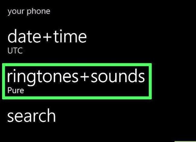 Beeld getiteld `n Ringtoon verander op `n Windows Phone Stap 17