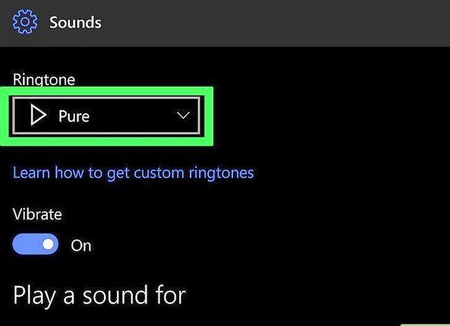 Prent getiteld Verander `n luitoon op `n Windows Phone Stap 6