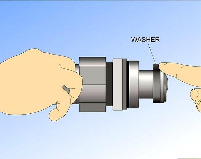 Prent getiteld Vervang die Washer in `n Stortkraan Stap 10