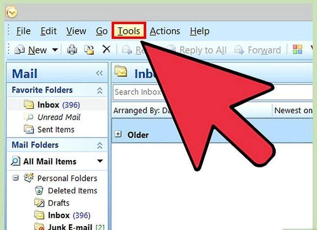 Beeld getiteld Verander Microsoft Outlook Password Stap 1