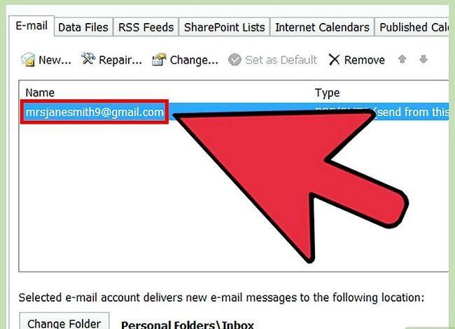 Beeld getiteld Verander Microsoft Outlook Wagwoord Stap 3