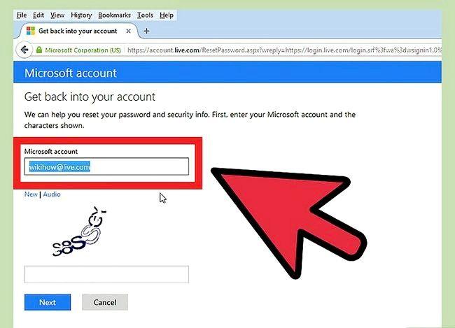Beeld getiteld Verander `n Hotmail-rekening wagwoord Stap 11