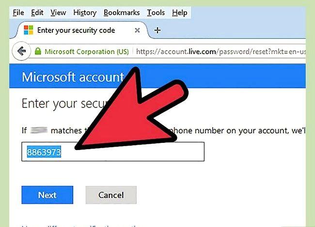 Prent getiteld Verander `n Hotmail rekening wagwoord Stap 14
