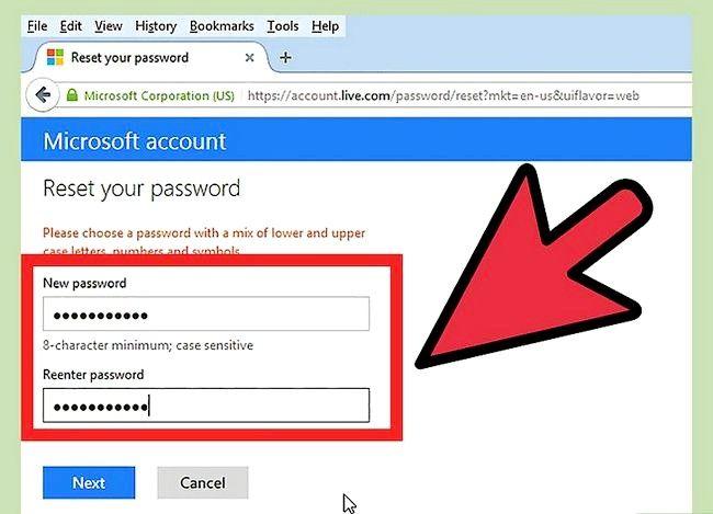 Beeld getiteld Verander `n Hotmail-rekening wagwoord Stap 15