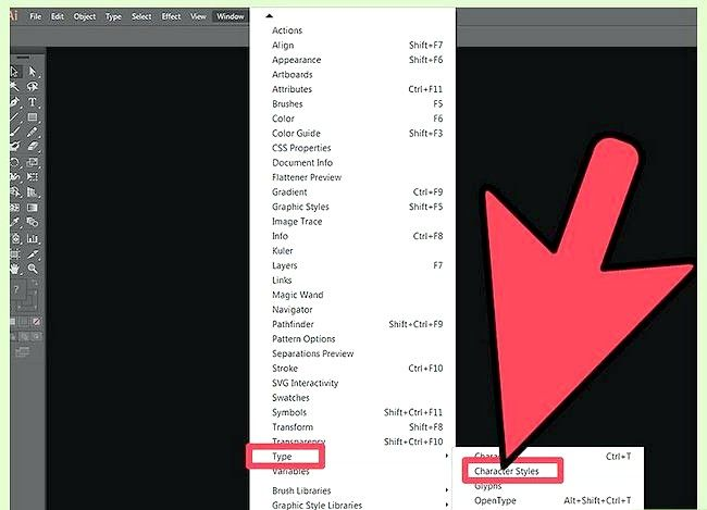 Prent getiteld Verander die verstek lettertipe in Adobe Illustrator Stap 4