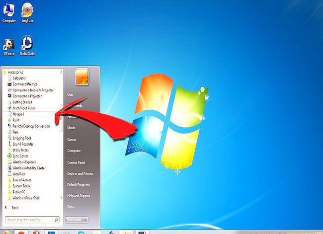 Prent getiteld Verander die standaard lettertipe op Windows Notepad Stap 1