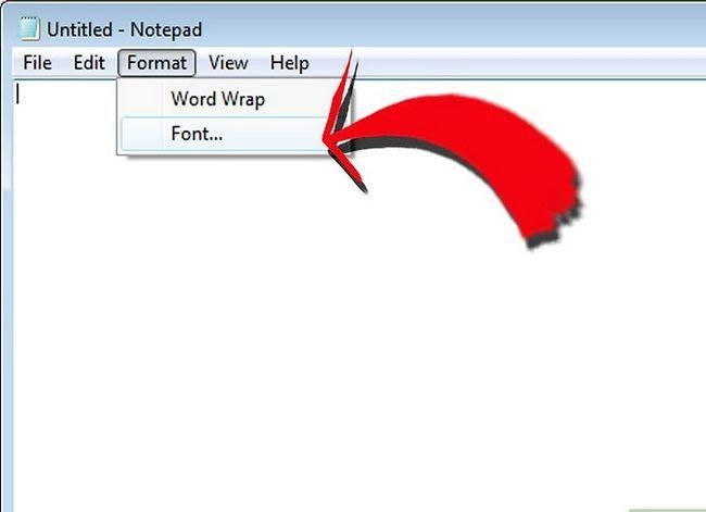 Prent getiteld Verander die verstek skrif op Windows Notepad Stap 3