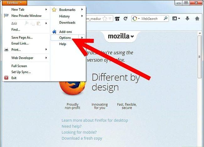 Prent getiteld Verander die standaardletter in Firefox Stap 3