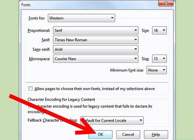 Prent getiteld Verander die standaardletter in Firefox Stap 9