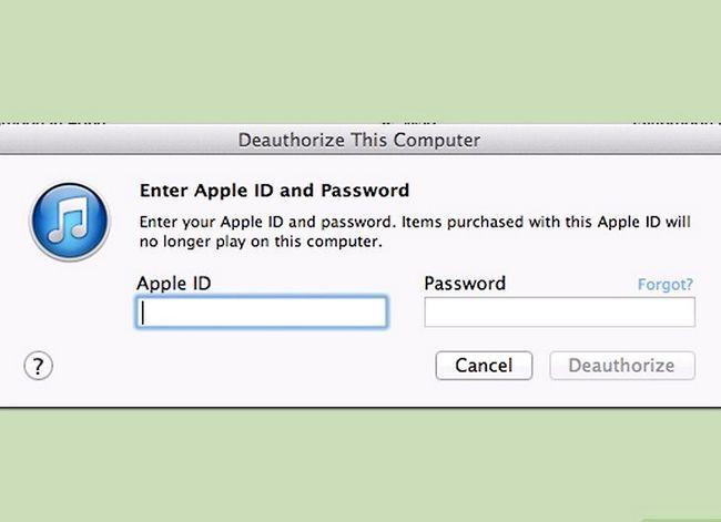 Prent getiteld Verander gemagtigde rekenaars in iTunes Stap 1Bullet3