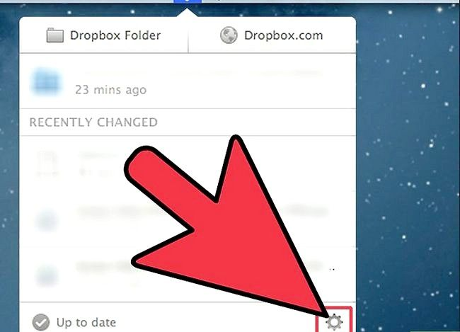 Prent getiteld Verander Dropbox rekening instellings en voorkeure Stap 5