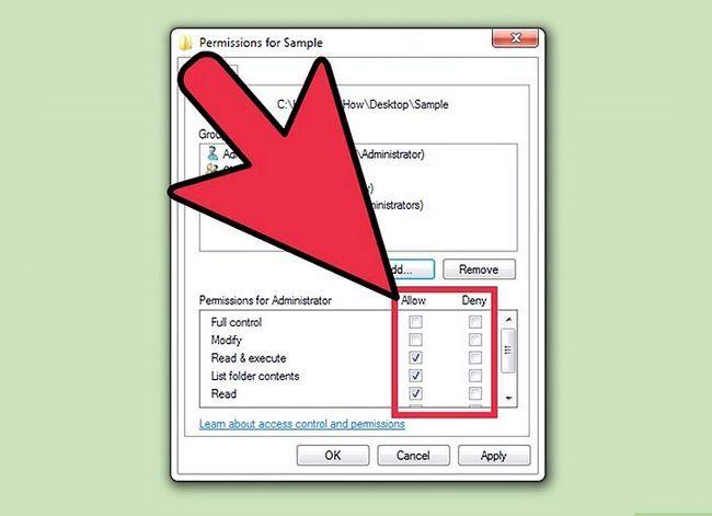 Beeld getiteld Verander lêer toestemmings op Windows 7 Stap 8