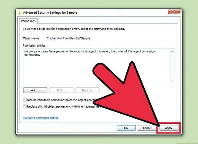 Prent getiteld Verander lêer toestemmings op Windows 7 Stap 10