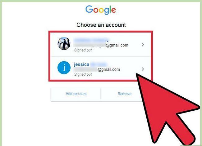 Prent getiteld Verander jou standaard Gmail rekening Stap 4