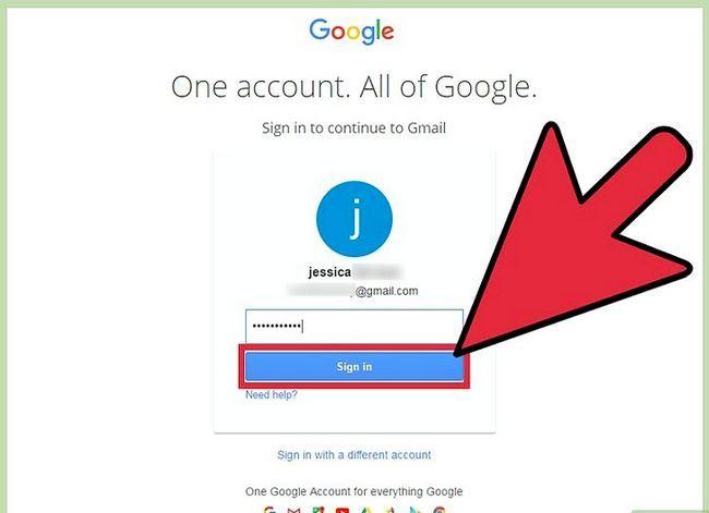 Prent getiteld Verander jou standaard Gmail rekening Stap 6