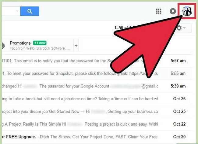 Prent getiteld Verander jou standaard Gmail rekening Stap 7