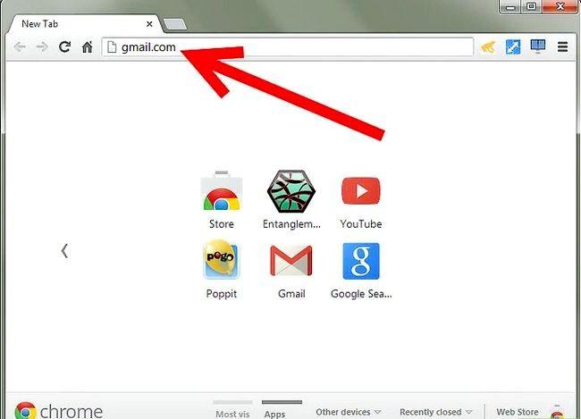 Prent getiteld Skakel E-pos adres na Gmail Stap 1