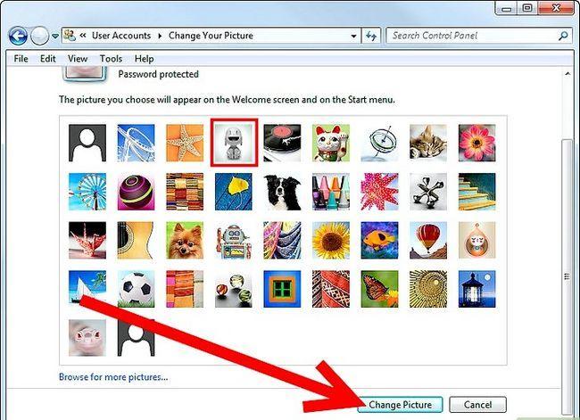 Beeld getiteld Verander jou gebruikersrekening prent in Windows 7 Stap 4