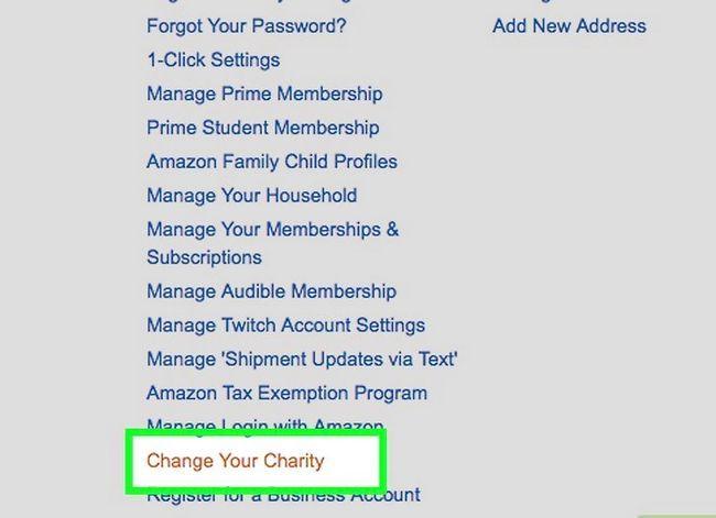 Prent getiteld Verander jou Amazon Smile Charity Stap 2