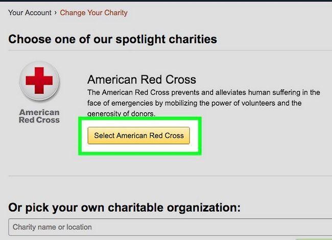 Prent getiteld Verander jou Amazon Smile Charity Stap 4