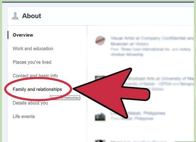Prent getiteld Verander jou verhoudingsstatus op Facebook Stap 11