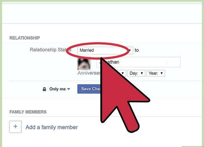 Prent getiteld Verander jou verhoudingsstatus op Facebook Stap 12